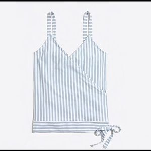 J.Crew Striped Tie Wrap Cami Top Medium